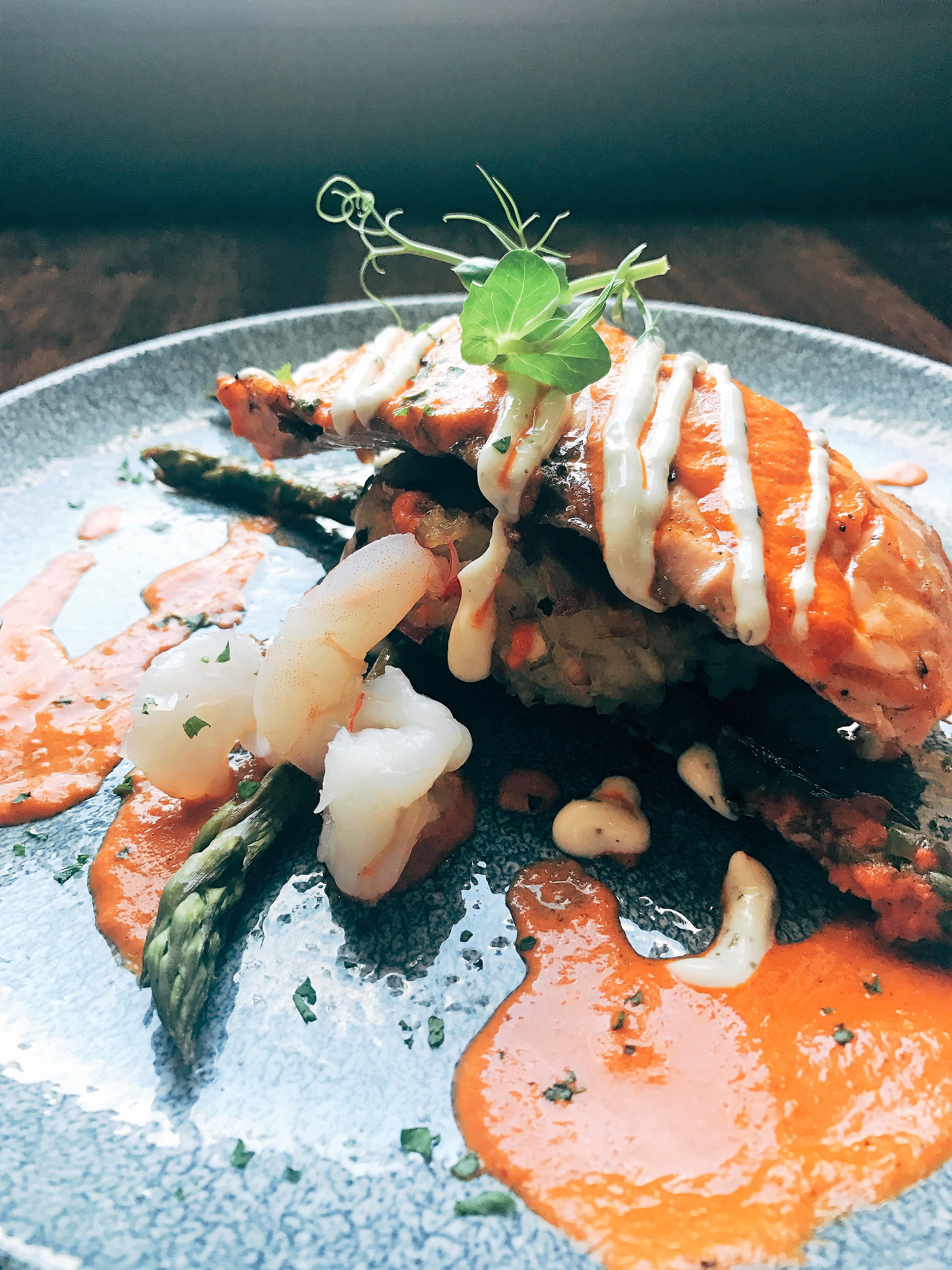 Salmon & Prawns Statham's Bar & Restaurant Pembroke Kilkenny